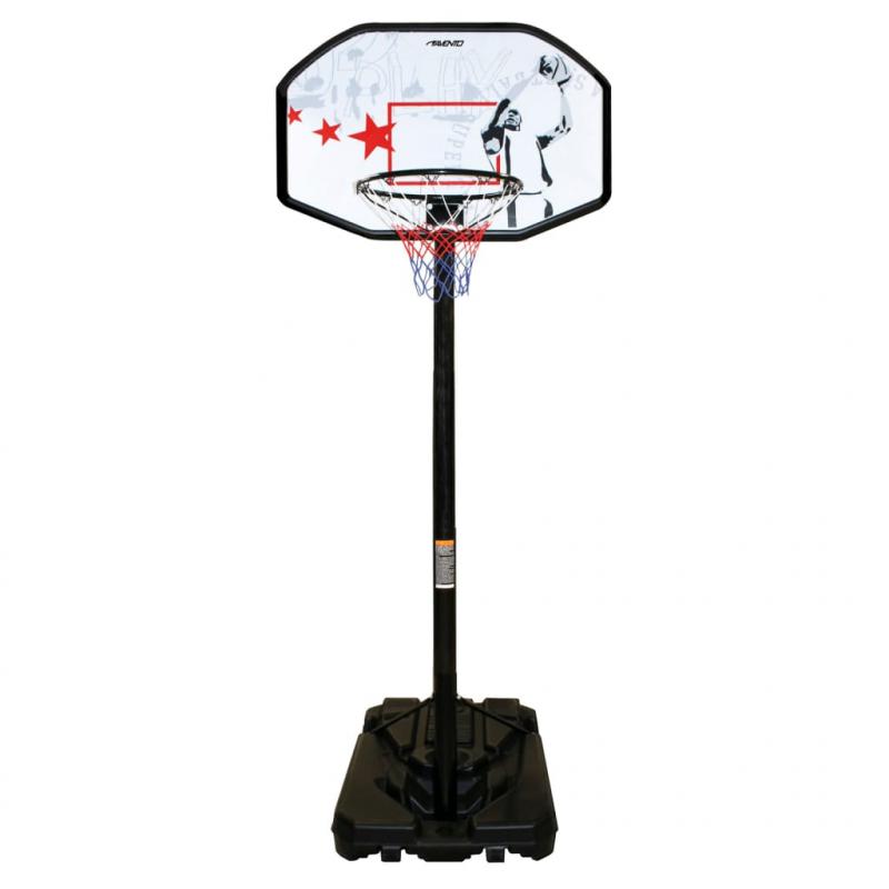 Avento Verstellbarer Basketballständer Fast Break Schwarz Weiß und Rot