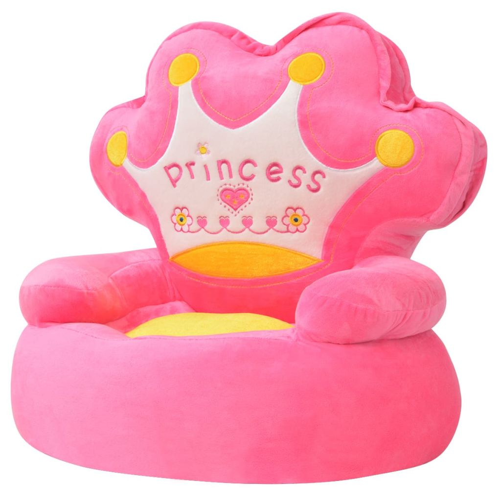 Plüsch-Kindersessel Prinzessin Rosa