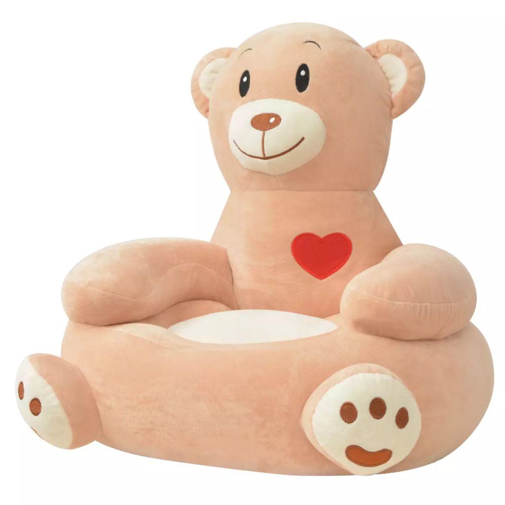 Plüsch-Kindersessel Bär Braun