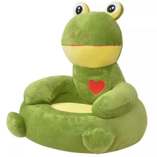 Plüsch-Kindersessel Frosch Grün