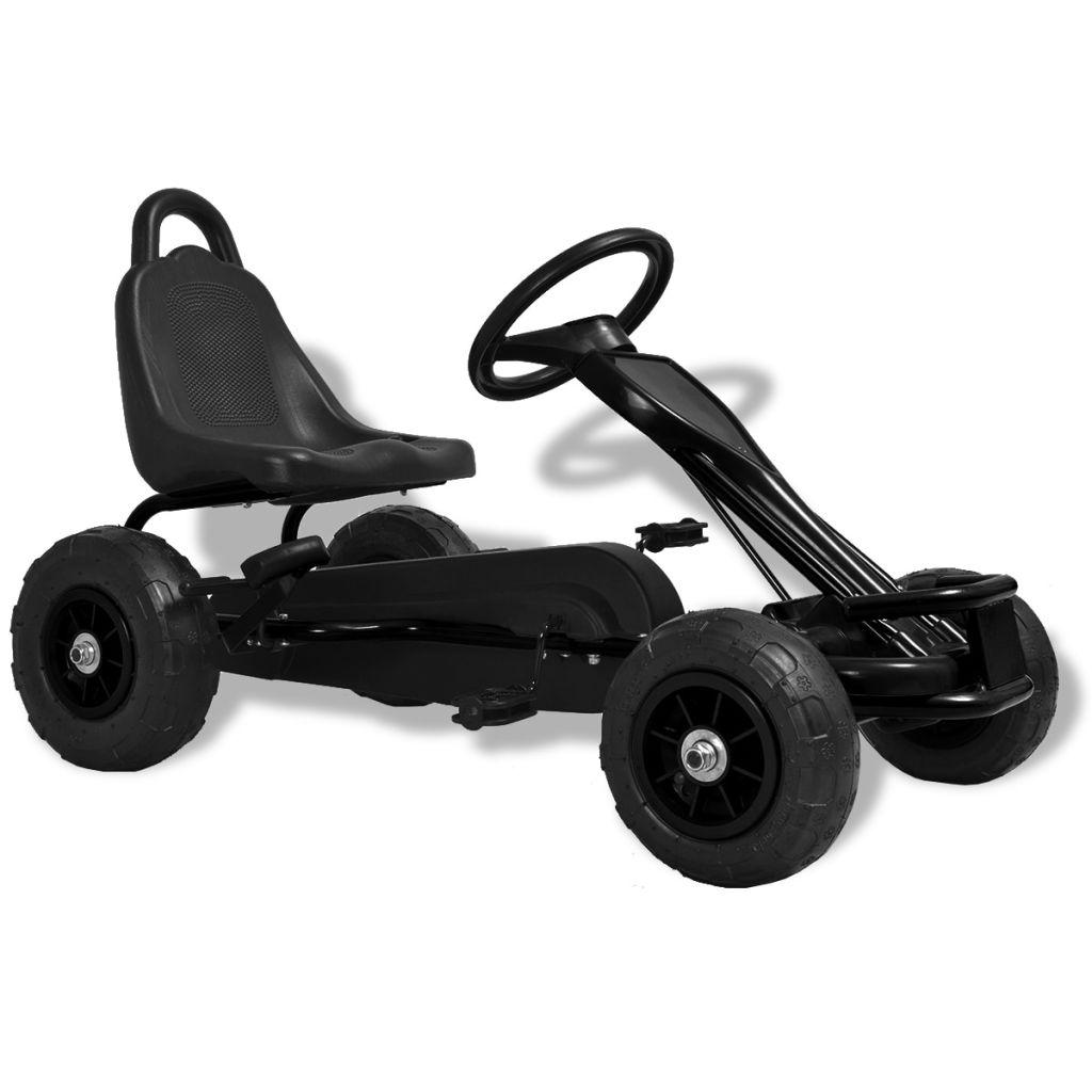 Pedal Go-Kart mit Luftreifen Schwarz