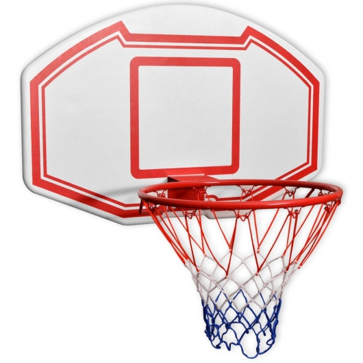 Basketballkorb-Set 3-tlg. Wandmontierbar 90 x 60 cm