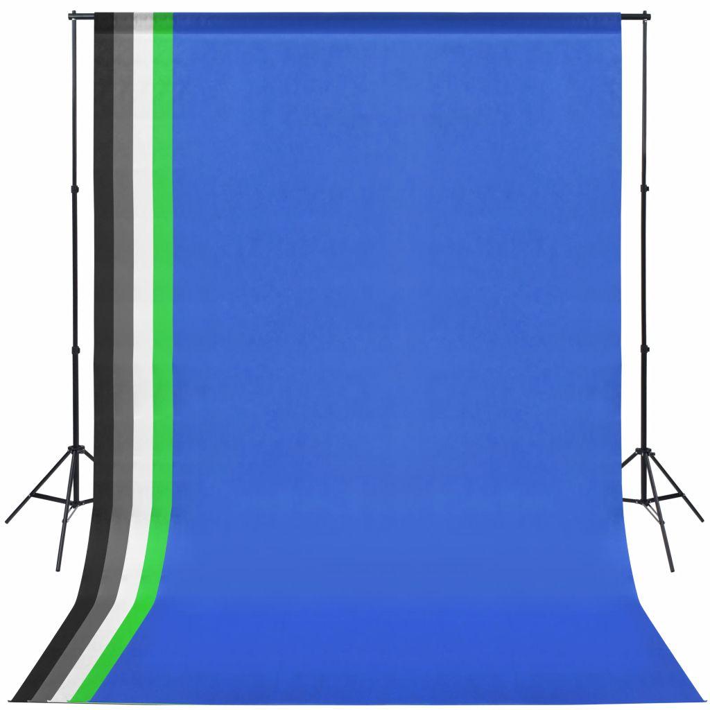 Fotostudio-Set mit 5 farbigen Hintergründen und einstellbarer Aufhängung