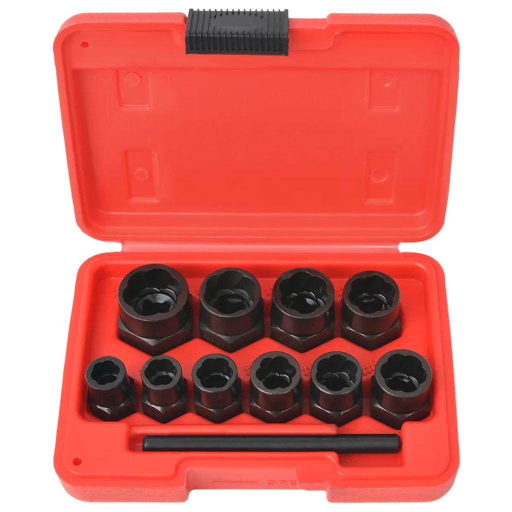 11tlg. Schraubenausdreher-Set für beschädigte Schrauben/Muttern