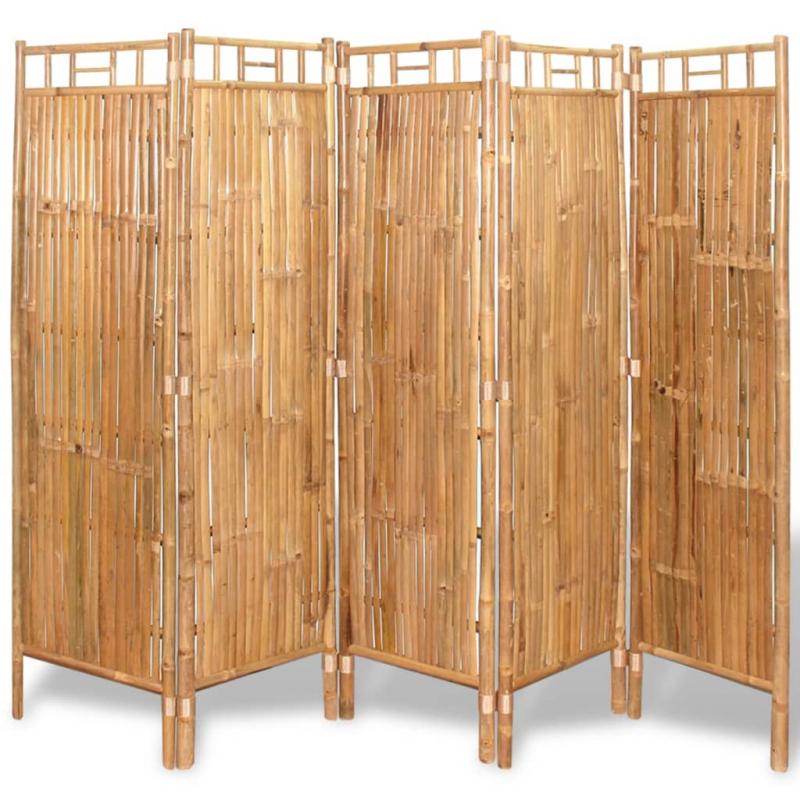 Raumteiler Bambus 5-tlg. 200x160 cm