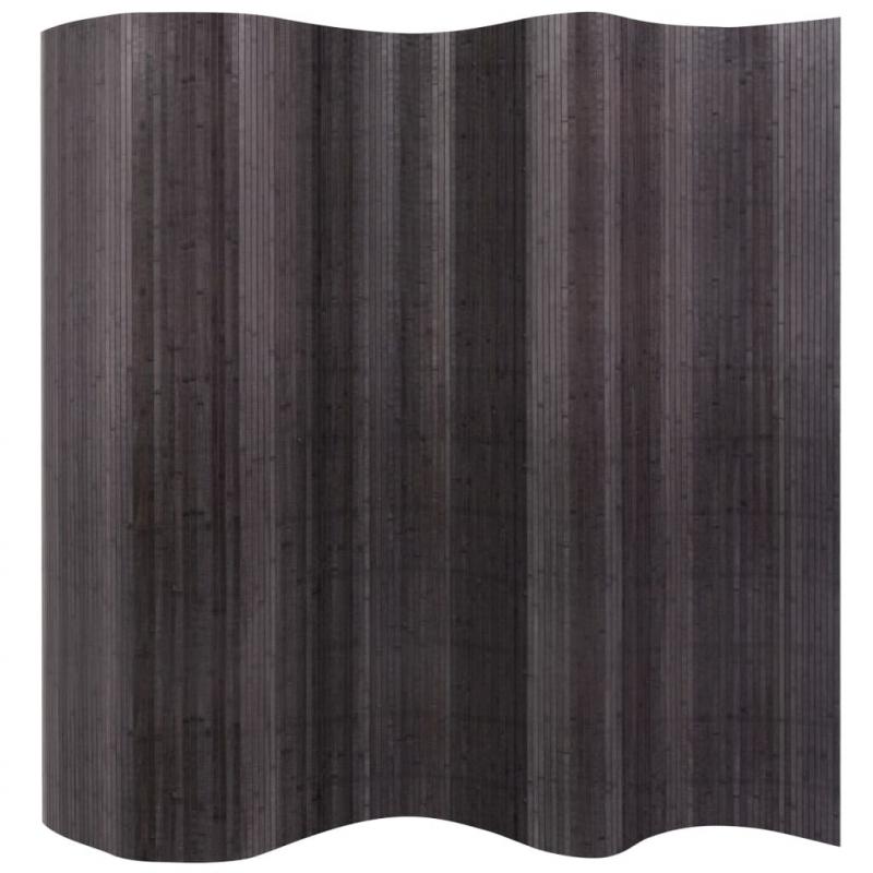 Raumteiler Bambus Grau 250x165 cm