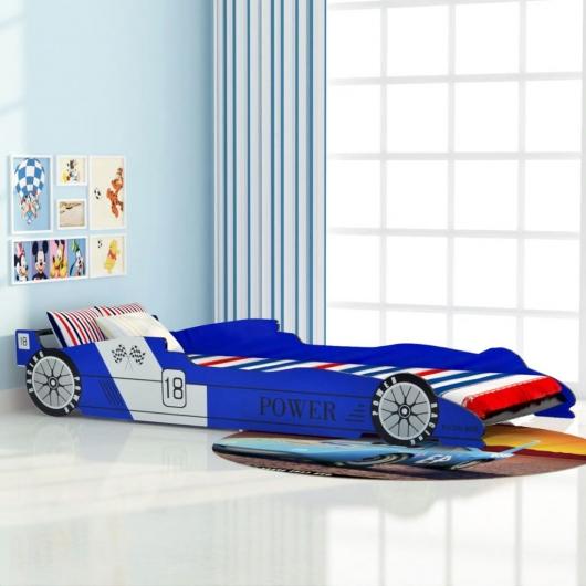 Kinder Rennwagen-Bett 90x200 cm Blau