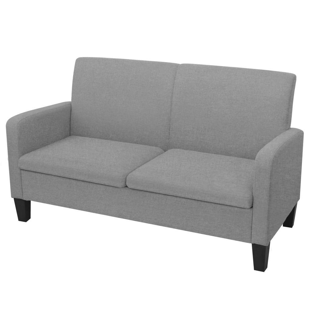 2-Sitzersofa 135 x 65 x76 cm Hellgrau