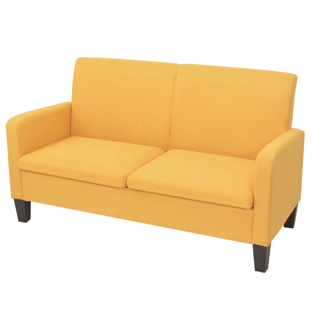 2-Sitzersofa 135 x 65 x76 cm Gelb