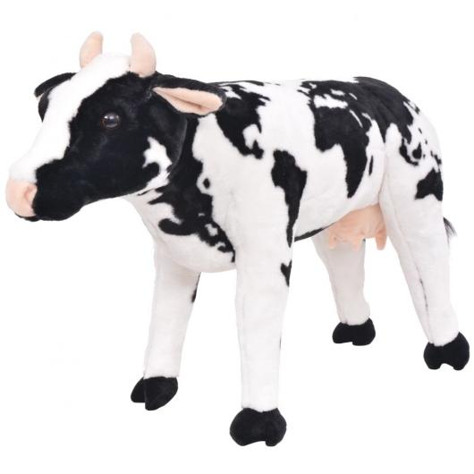 Plüschtier Stehend Kuh Schwarz und Weiß XXL
