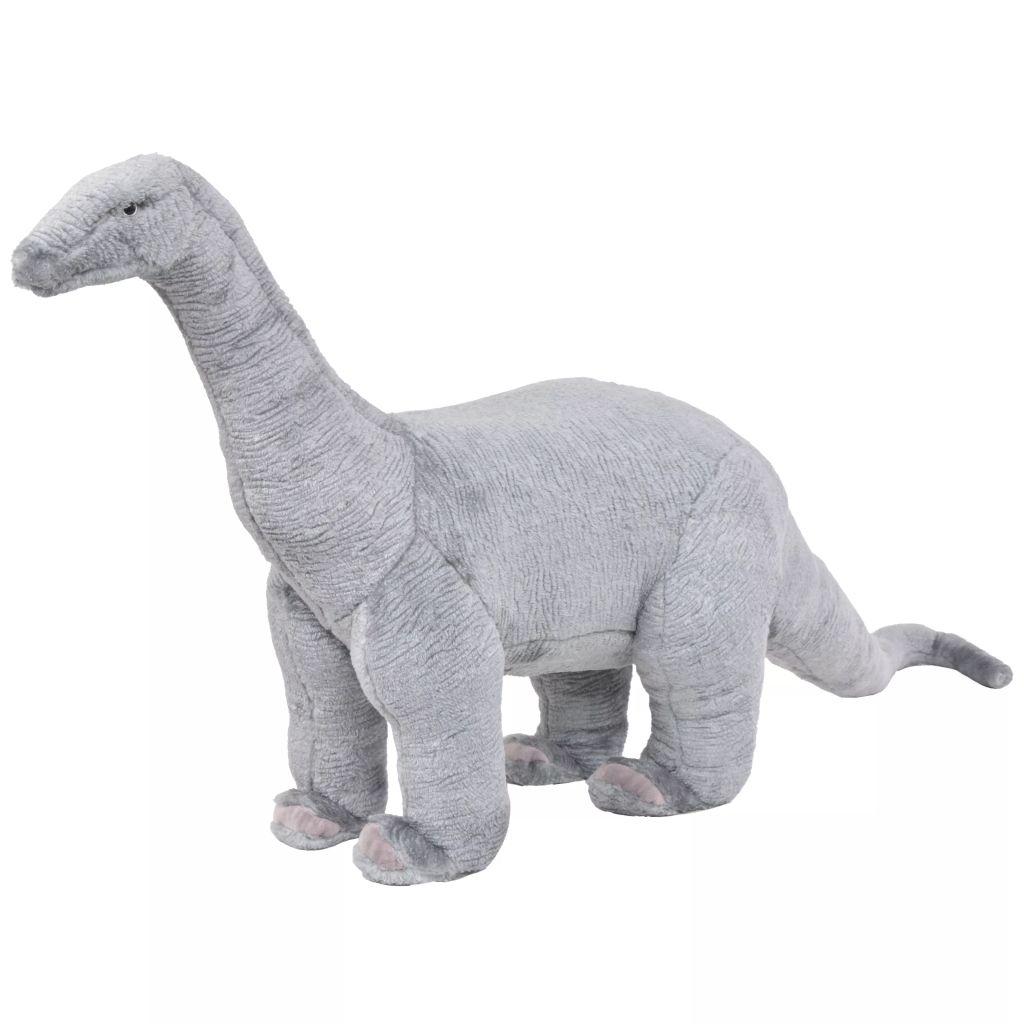 Plüschtier Stehend Brachiosaurus Dinosaurier Grau XXL