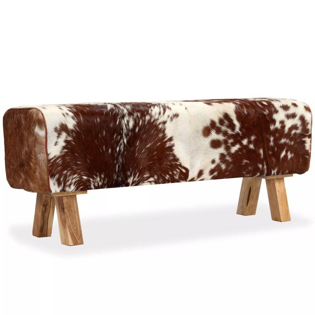 Sitzbank Echtes Ziegenleder 120 x 30 x 45 cm