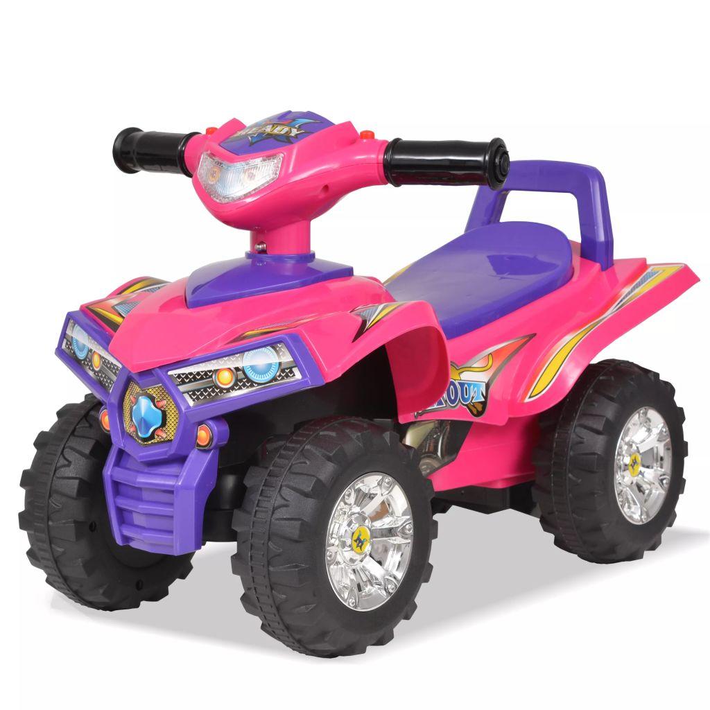 Kinder Geländefahrzeug ATV mit Sound und Licht Rosa und Lila
