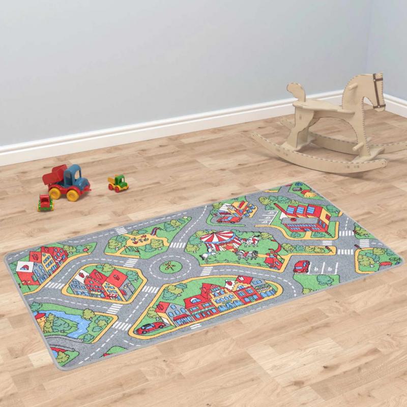 Spielmatte Schlingenpol 170x290 cm Stadtstraßenmuster