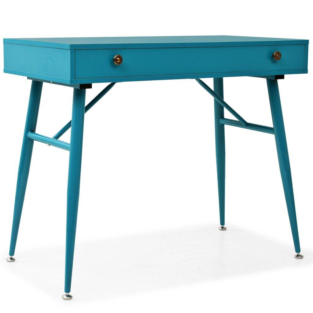 Schreibtisch mit Schublade 90 x 50 x 76,5 cm Antikgrün
