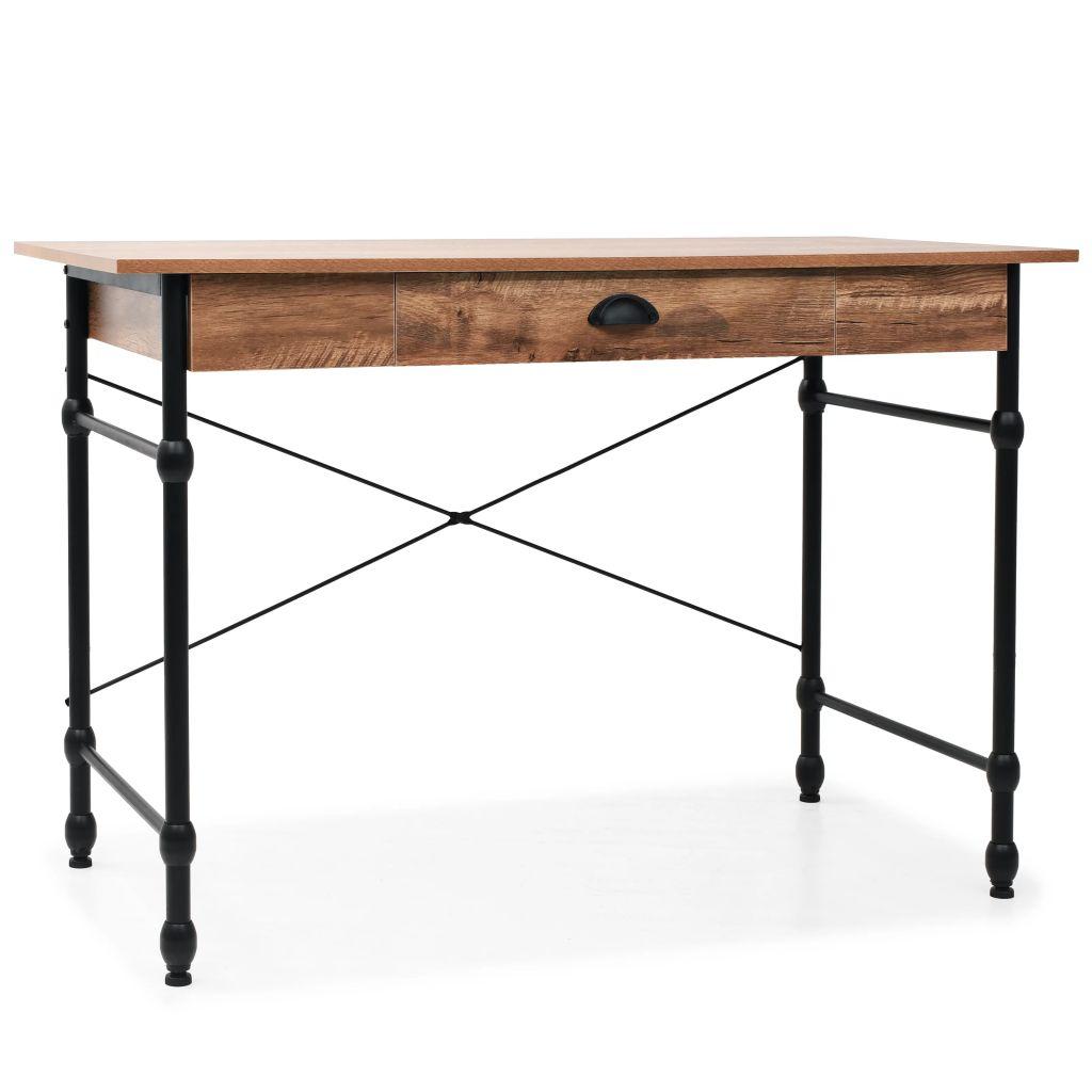 Schreibtisch mit Schublade 110 x 55 x 75 cm Eichenfarbe