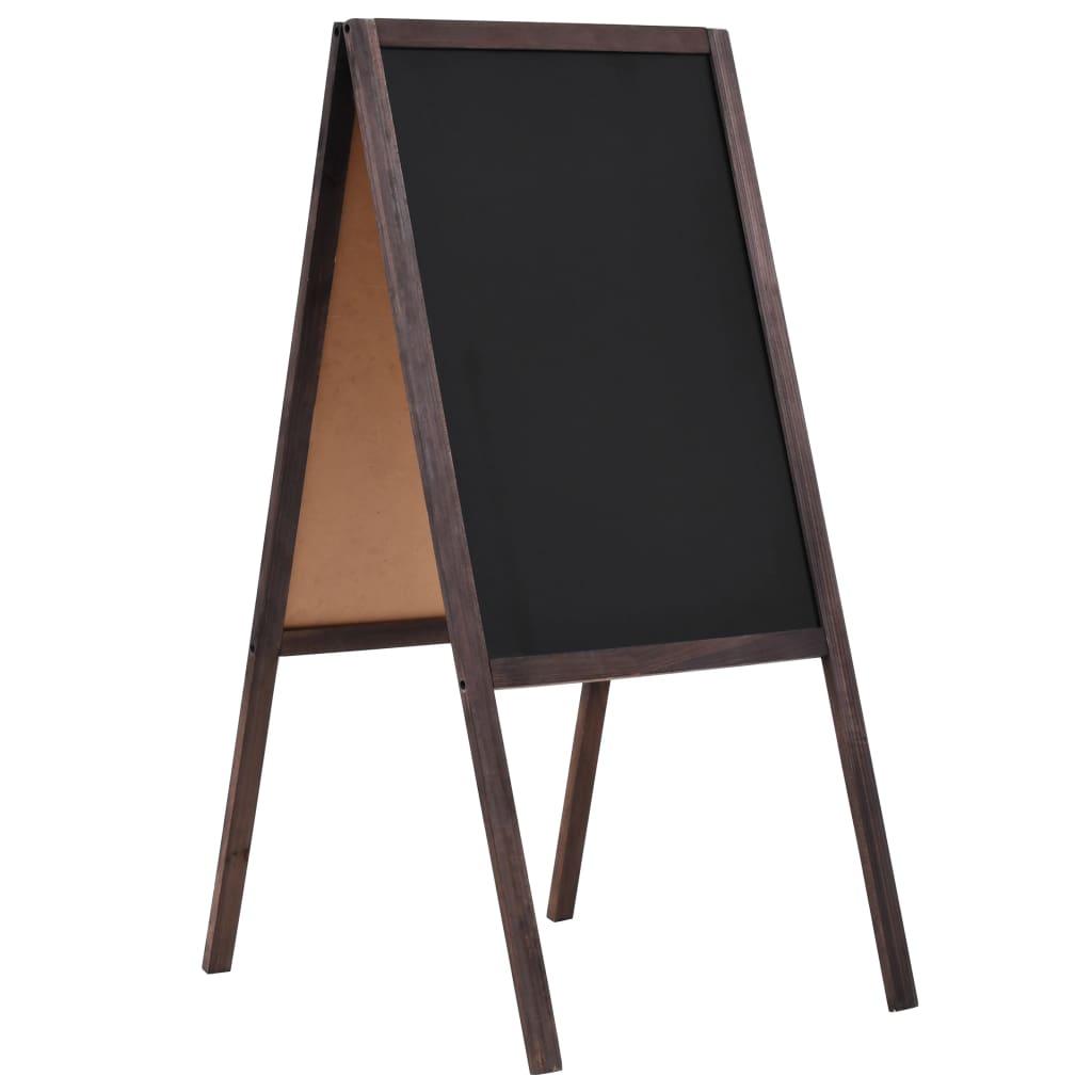 Tafel Kundenstopper Doppelseitig Zedernholz Freistehend 40×60cm
