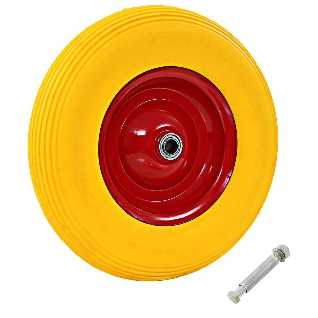 Schubkarrenrad mit Achse Massives PU 4,00 - 8 390 mm