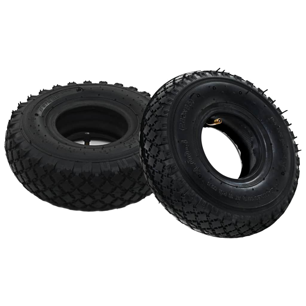 2 Reifen 2 Schläuche 3,00 - 4 260 x 85 für Sackkarren Gummi