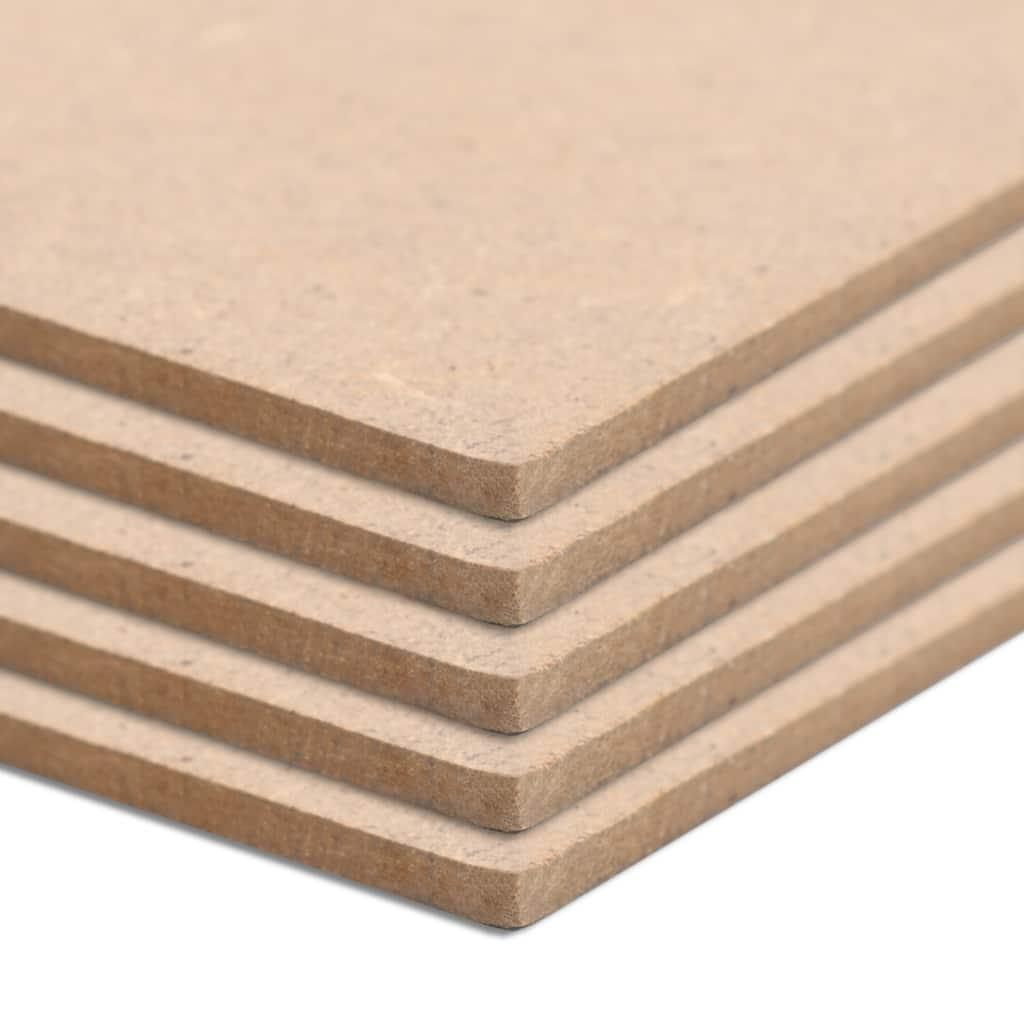 MDF-Platten 5 Stk. Rechteckig 120x60 cm 2,5 mm