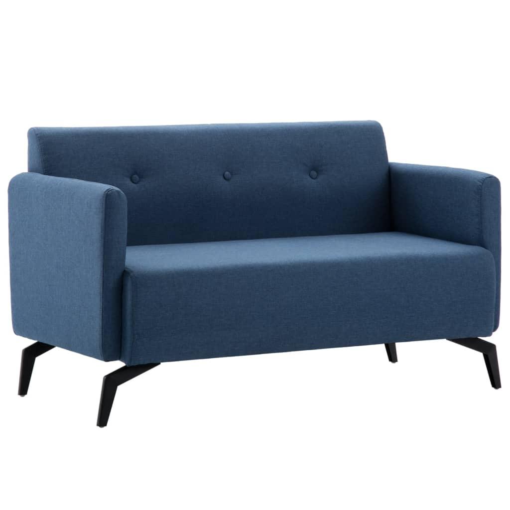 2-Sitzer-Sofa Stoffbezug 115 x 60 x 67 cm Blau