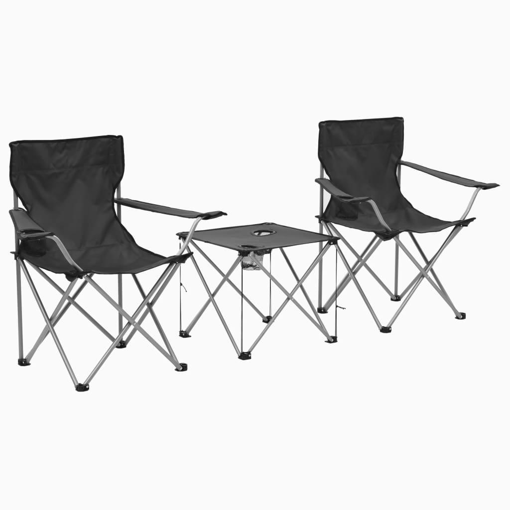 Camping-Sitzgruppe 3-tlg. Grau