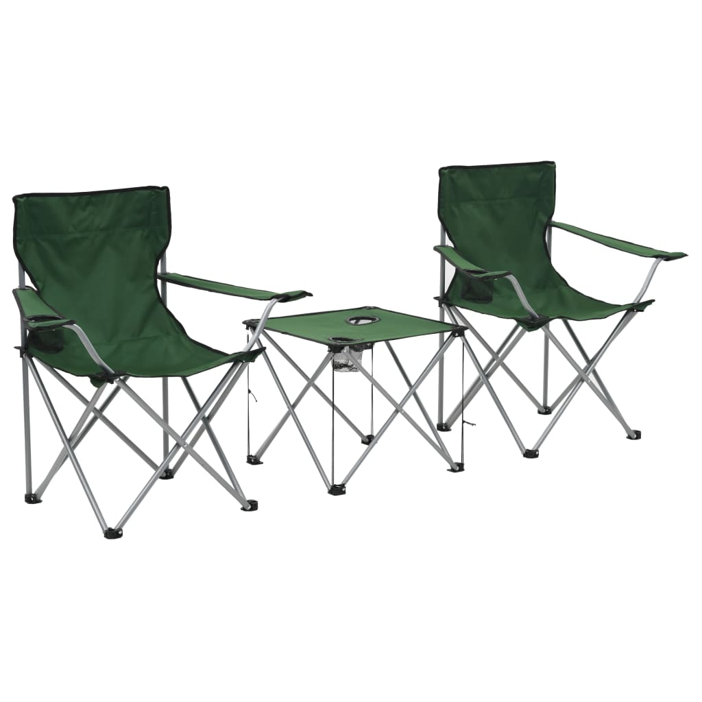 Camping-Sitzgruppe 3 Stk. Grün