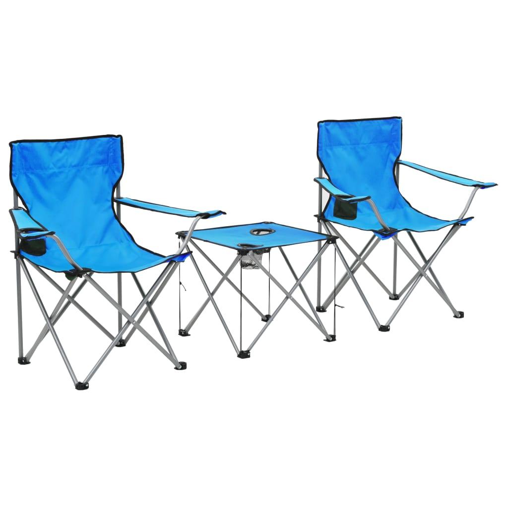 Camping-Sitzgruppe 3-tlg. Blau