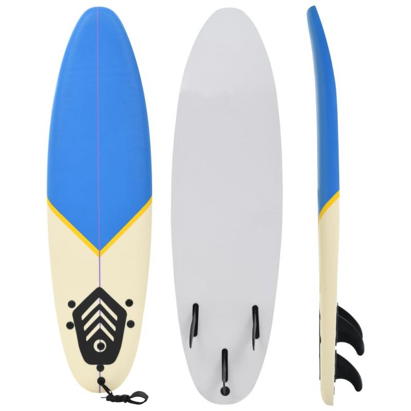 Surfbrett 170 cm Blau und Creme