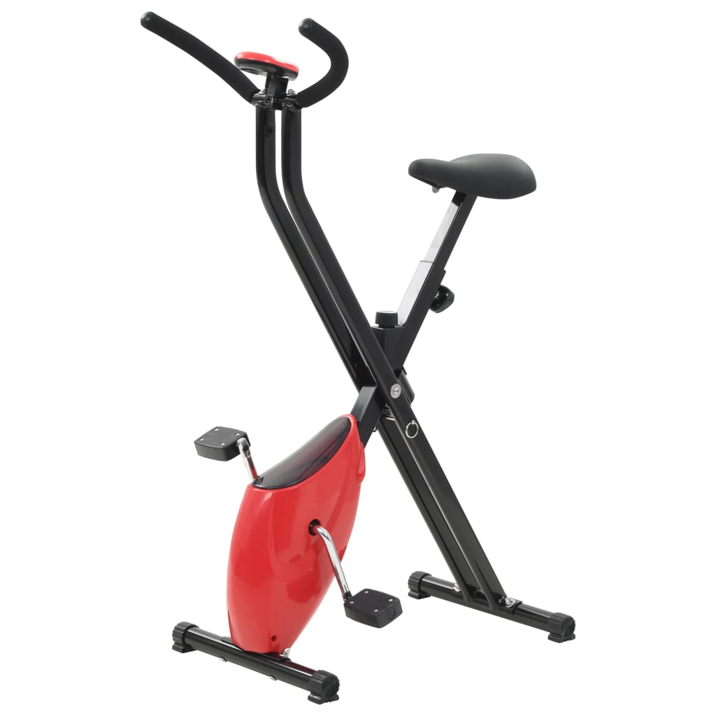 Heimtrainer X-Bike Gurtwiderstand Rot