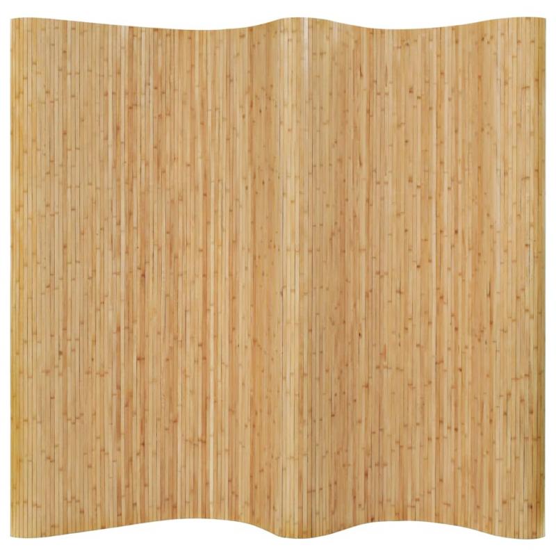 Raumteiler Bambus 250x165 cm Natur