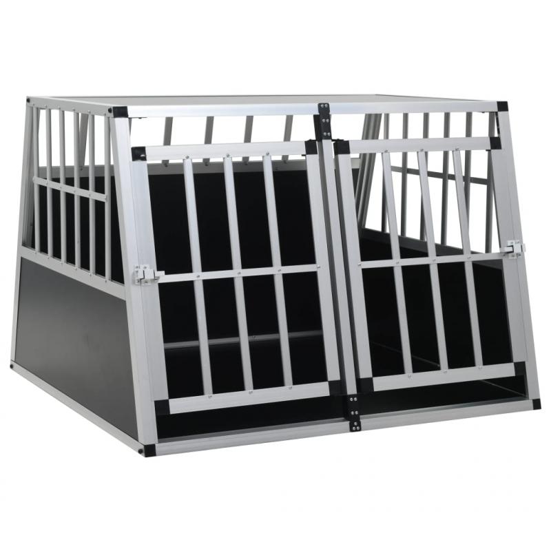 Hundetransportbox mit Doppeltür 94 x 88 x 69 cm