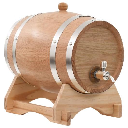 Weinfass mit Hahn Eichenholz Massiv 6 L