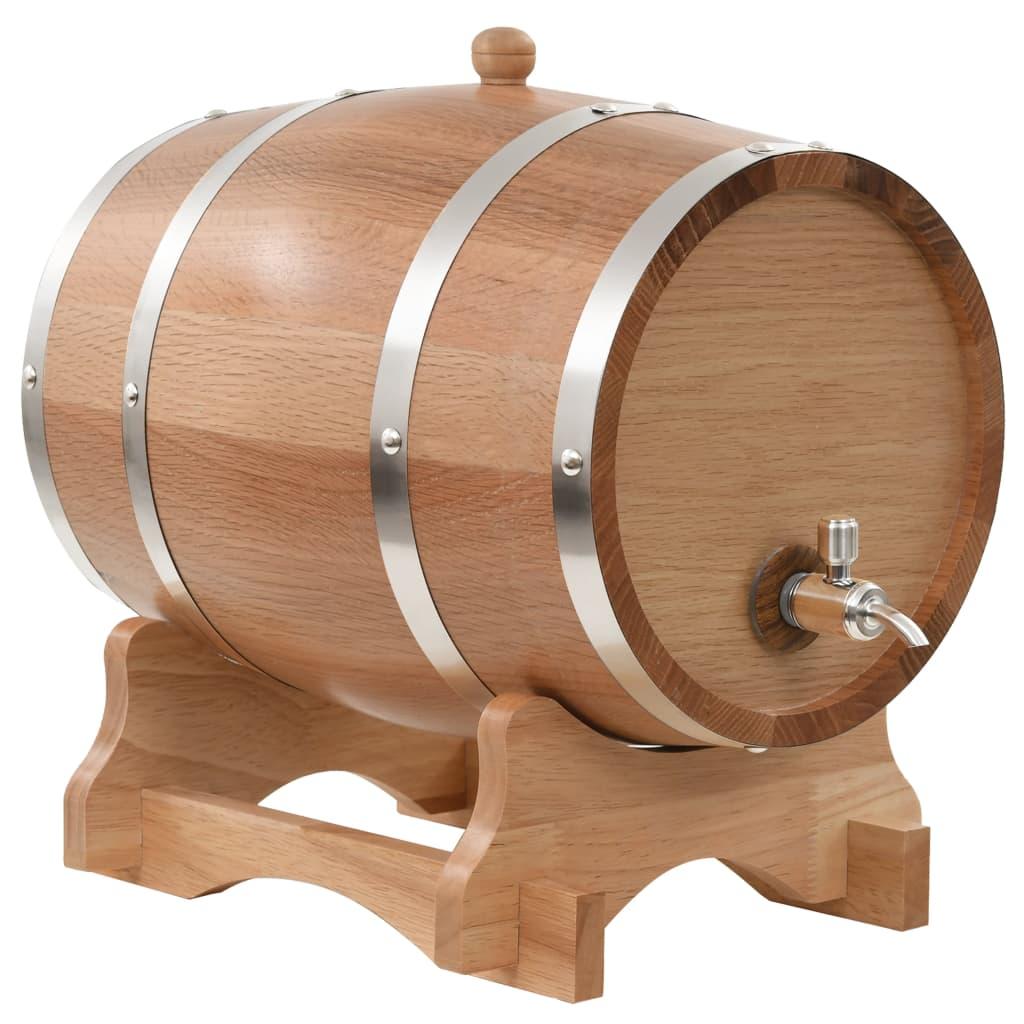 Weinfass mit Hahn Eichenholz Massiv 12 L