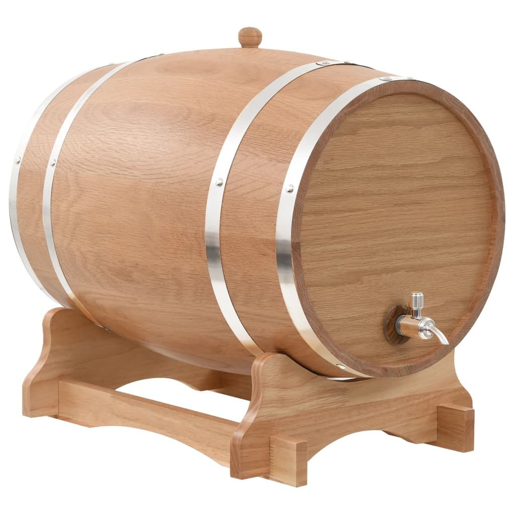 Weinfass mit Hahn Eichenholz Massiv 35 L
