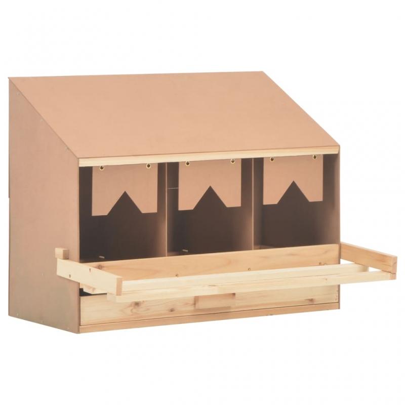 Legenest Hühnernest 3 Fächer 72 x 33 x 54 cm Massivholz Kiefer