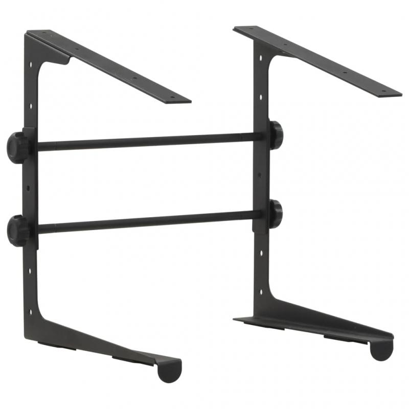 Laptopständer Schwarz 30,5x28×(24,5-37,5) cm Stahl