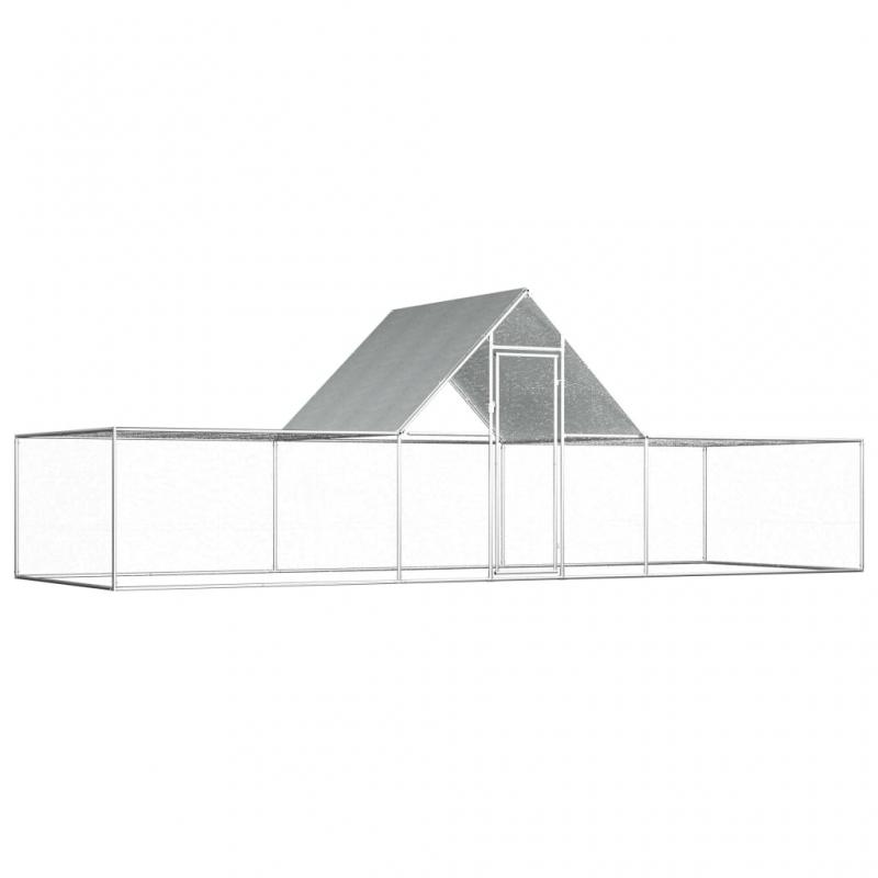 Hühnerstall 6×2×2 m Verzinkter Stahl