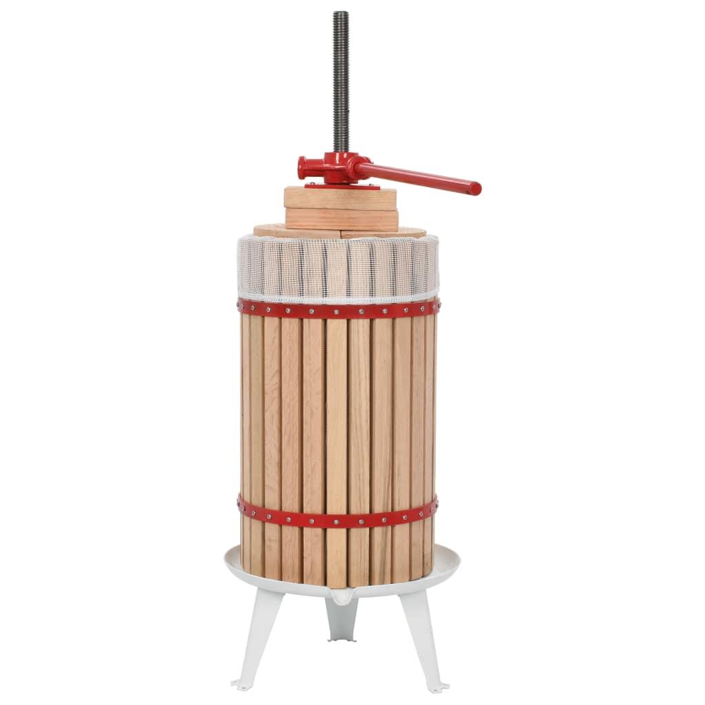 Obst- und Weinpresse mit Stoffbeutel 30 L Eichenholz
