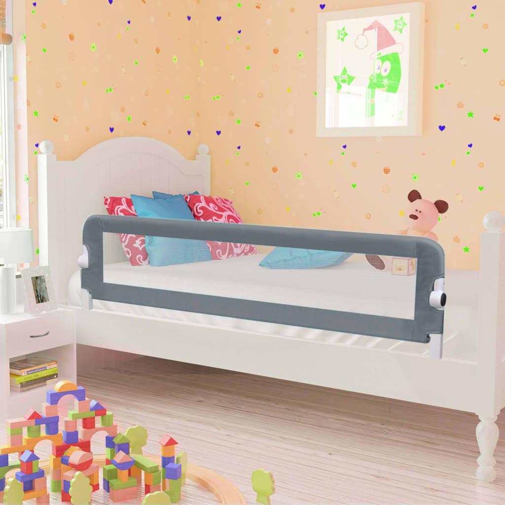 Kleinkind-Bettschutzgitter Grau 150x42 cm Polyester