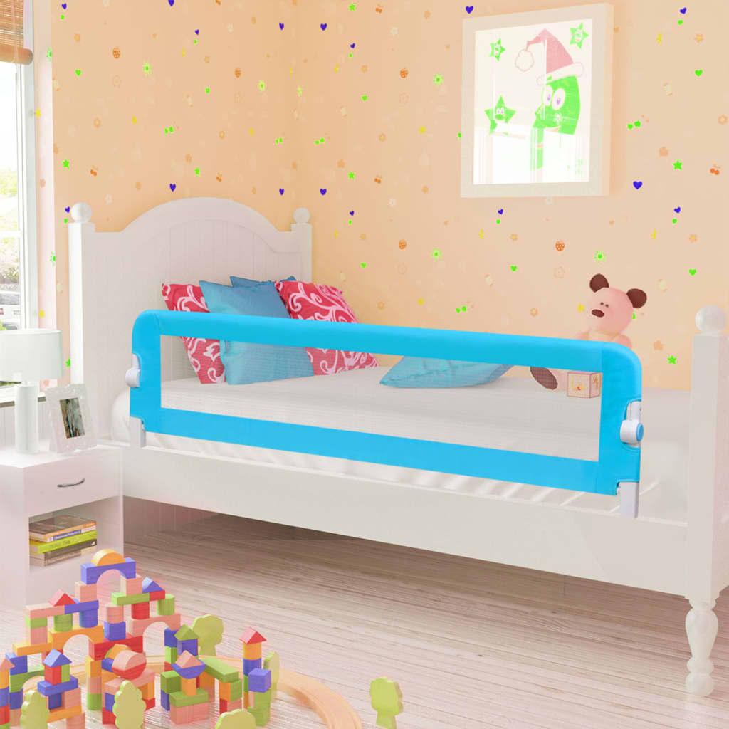 Kleinkind-Bettschutzgitter Blau 120x42 cm Polyester
