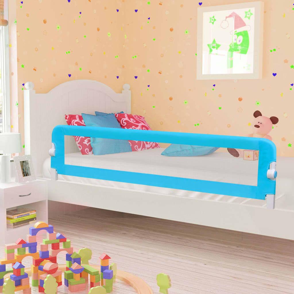 Kleinkind-Bettschutzgitter Blau 180x42 cm Polyester