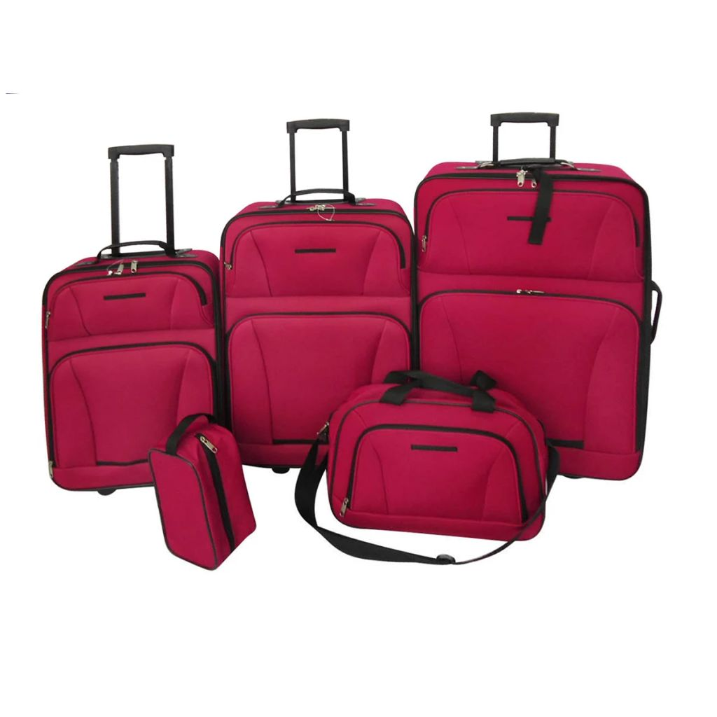 Reiseset Kofferset 5-teilig Rot