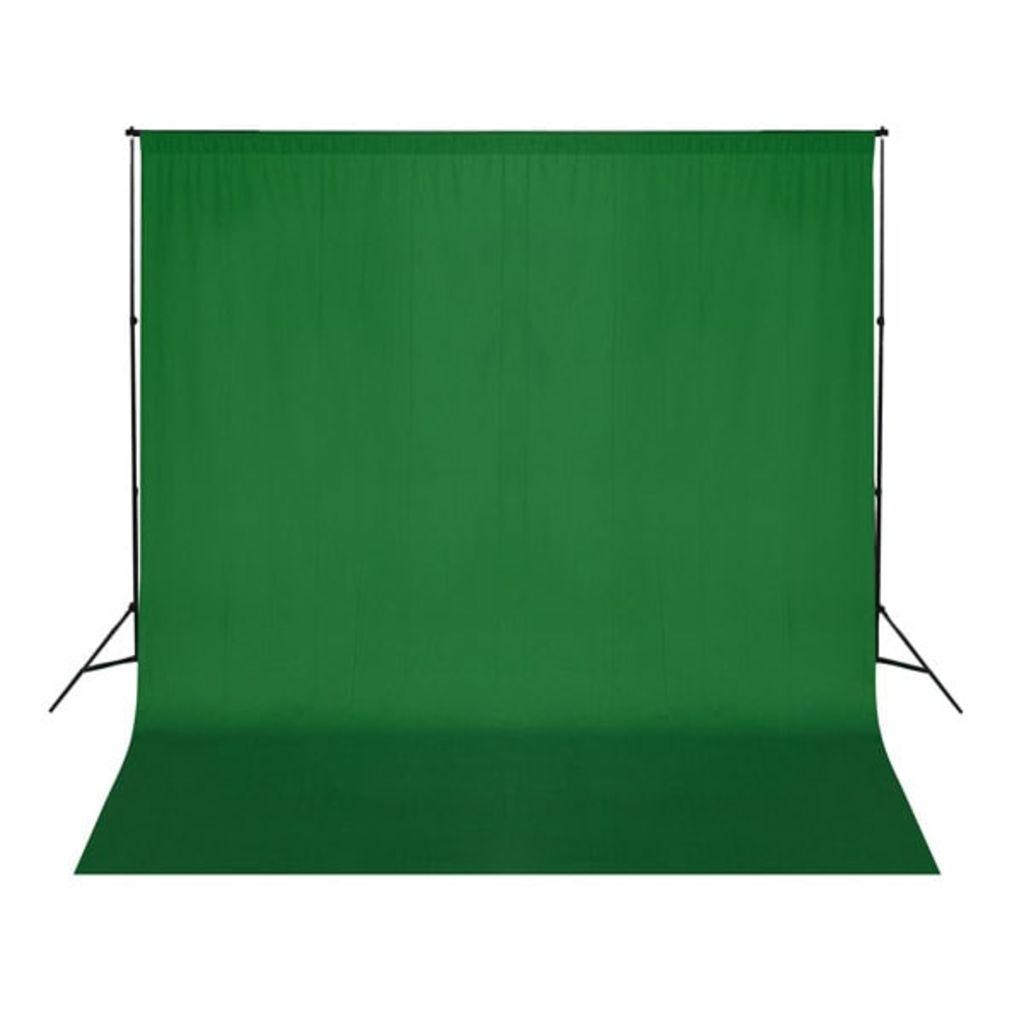Fotohintergrund Baumwolle Grün 300 x 300 cm Chroma-Key