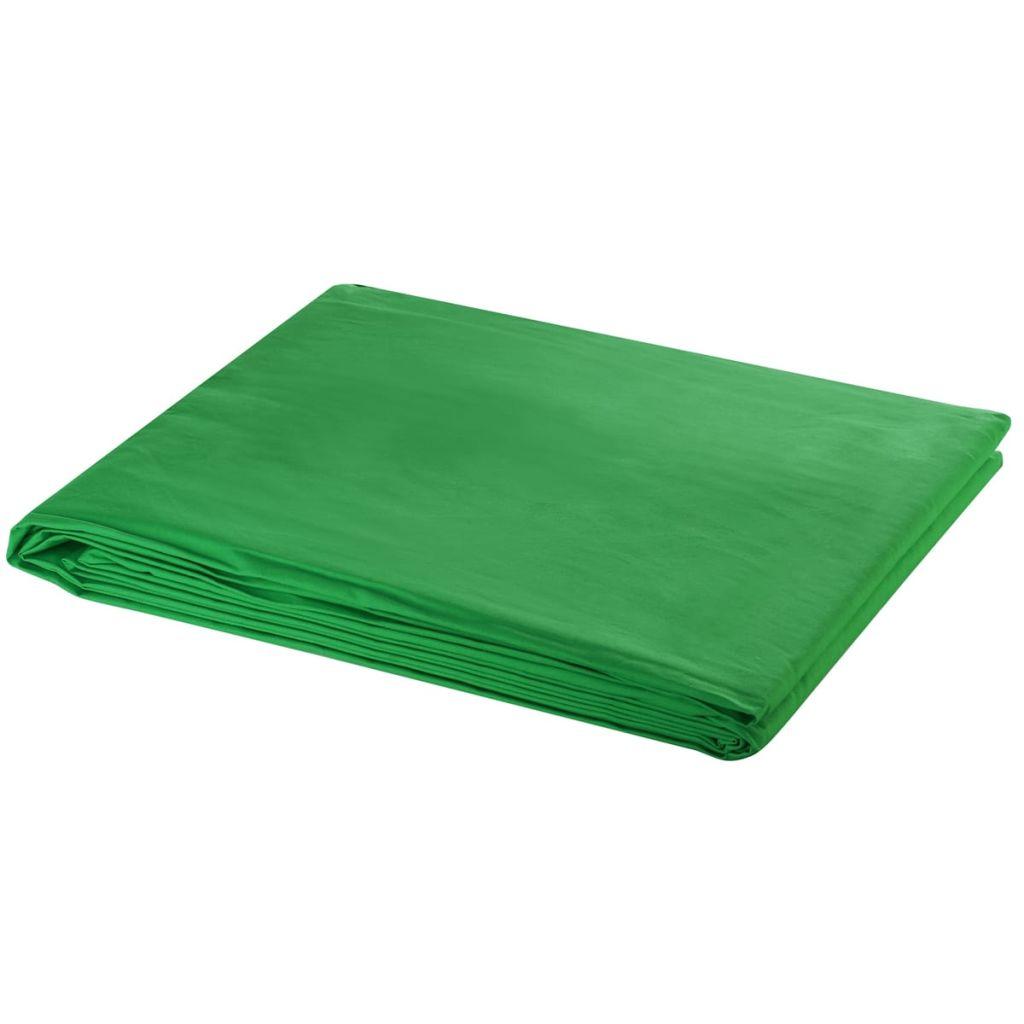Fotohintergrund Baumwolle Grün 500 x 300 cm Chroma-Key