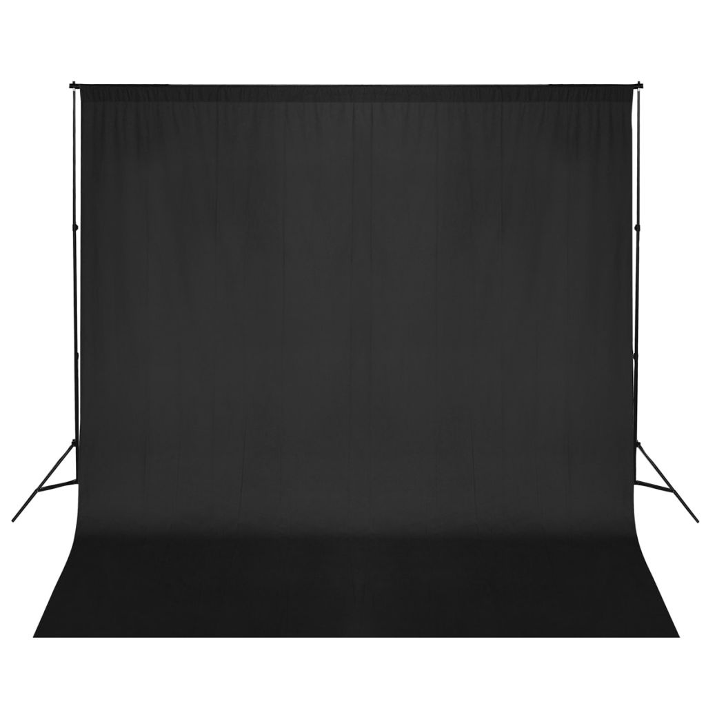 Fotohintergrund-System 600 x 300 cm Schwarz