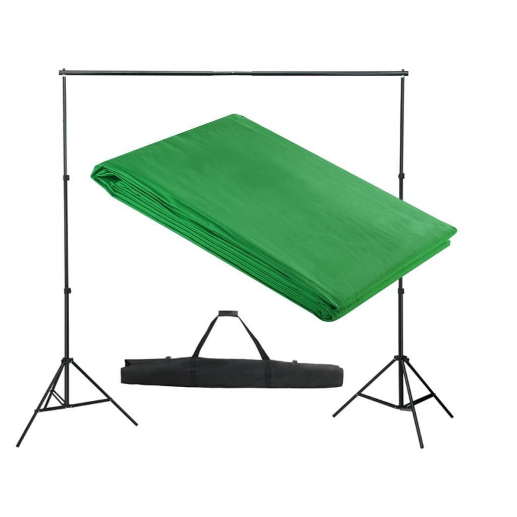 Fotohintergrund-System 300 x 300 cm Grün