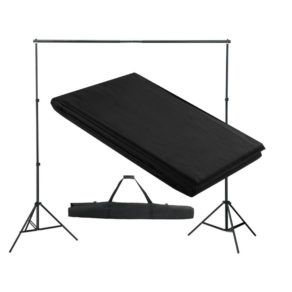 Fotohintergrund-System 300 x 300 cm Schwarz