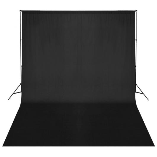 Fotohintergrund-System 500 x 300 cm Schwarz