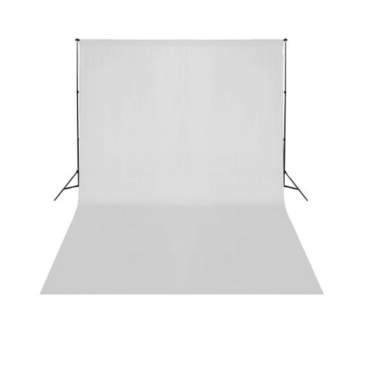Teleskopischer Hintergrund-System + Weißer Hintergrund 3 x 5 m